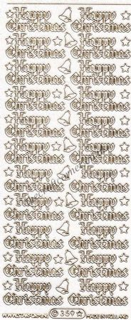 Happy Christmas Glitter Wording Peel Off